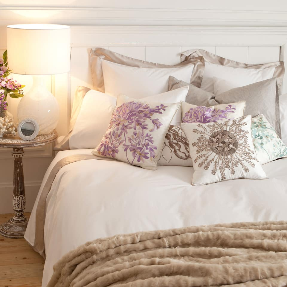 Percale Cotton and Silk Bed Linen