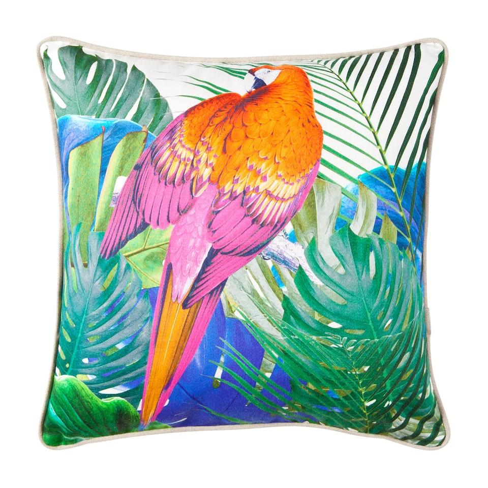 Colourful Parrot Cushion