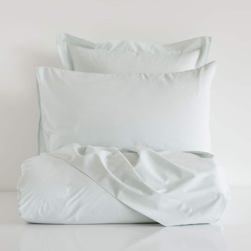 linge de lit percale vert clair linge de lit lit soldes zara home canada. Black Bedroom Furniture Sets. Home Design Ideas