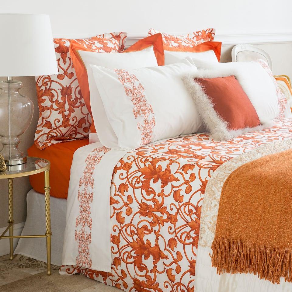 Orange satin bed linen bed linen bedroom zara home - Jaulas decorativas zara home ...