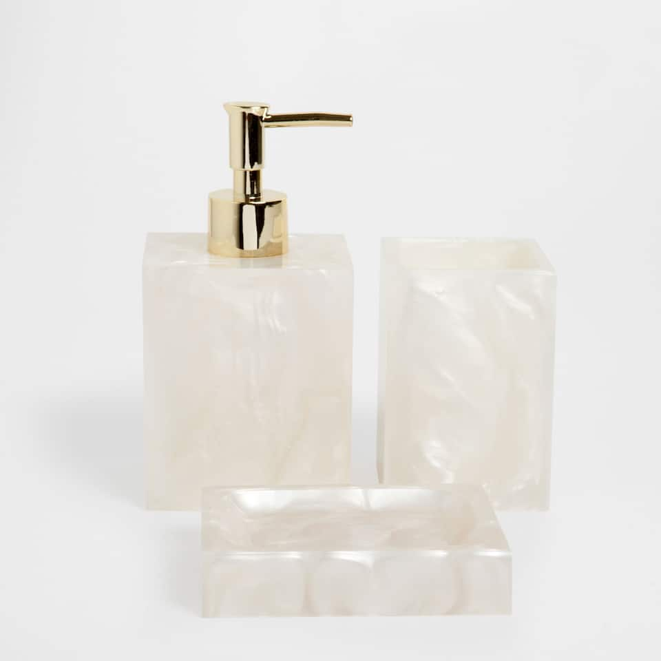 Beige resin bathroom set accessories bathroom zara home saudi arabia - Zara home accessories ...