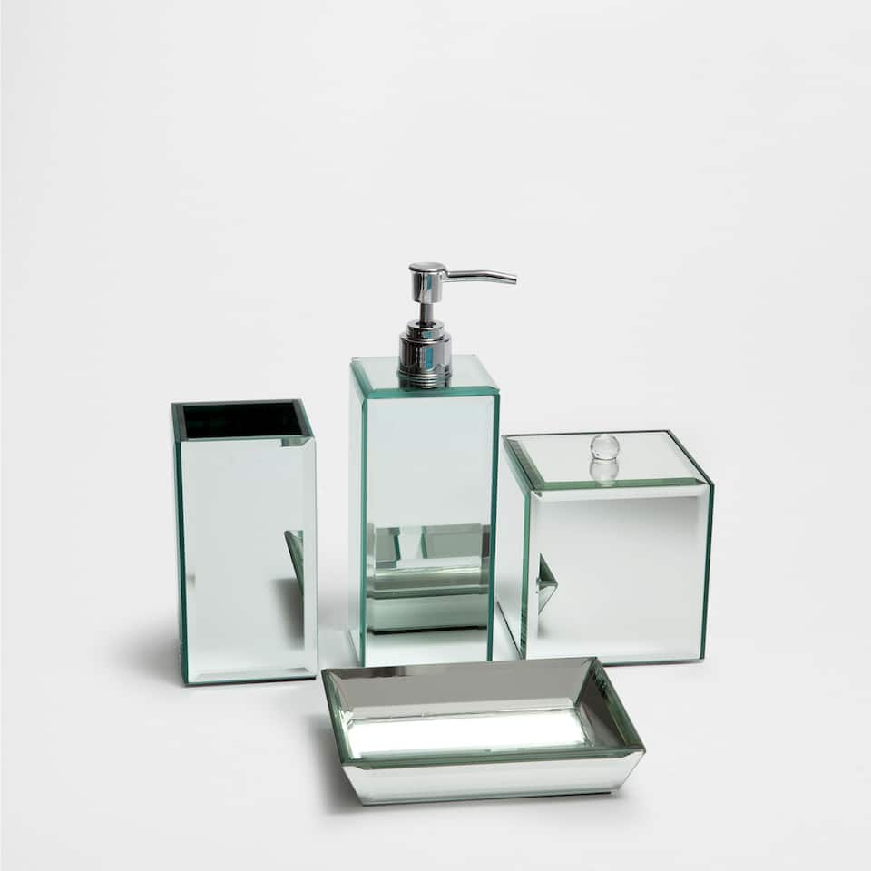 Mirrored bathroom set accessories bathroom zara home saudi arabia - Zara home accessories ...