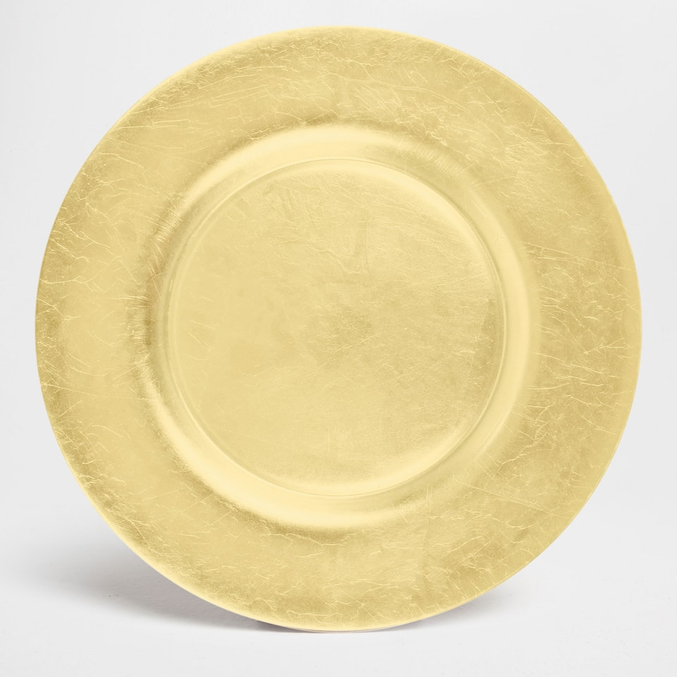 Sous assiettes table zara home canada - Assiette de presentation doree ...