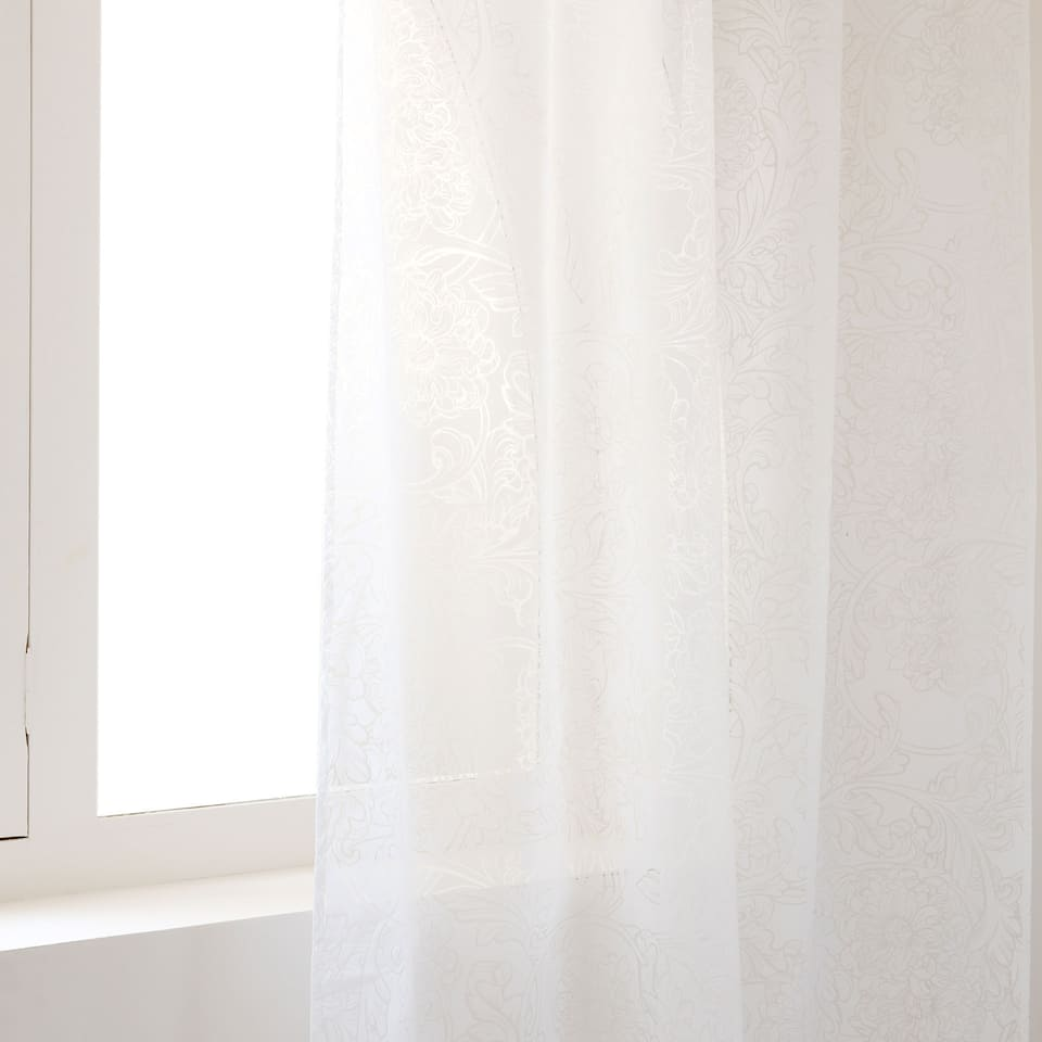 WHITE OMBRÉ CURTAIN