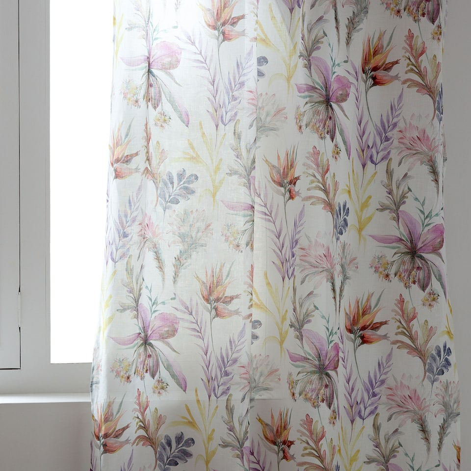 SPRING DIGITAL-PRINT LINEN CURTAIN