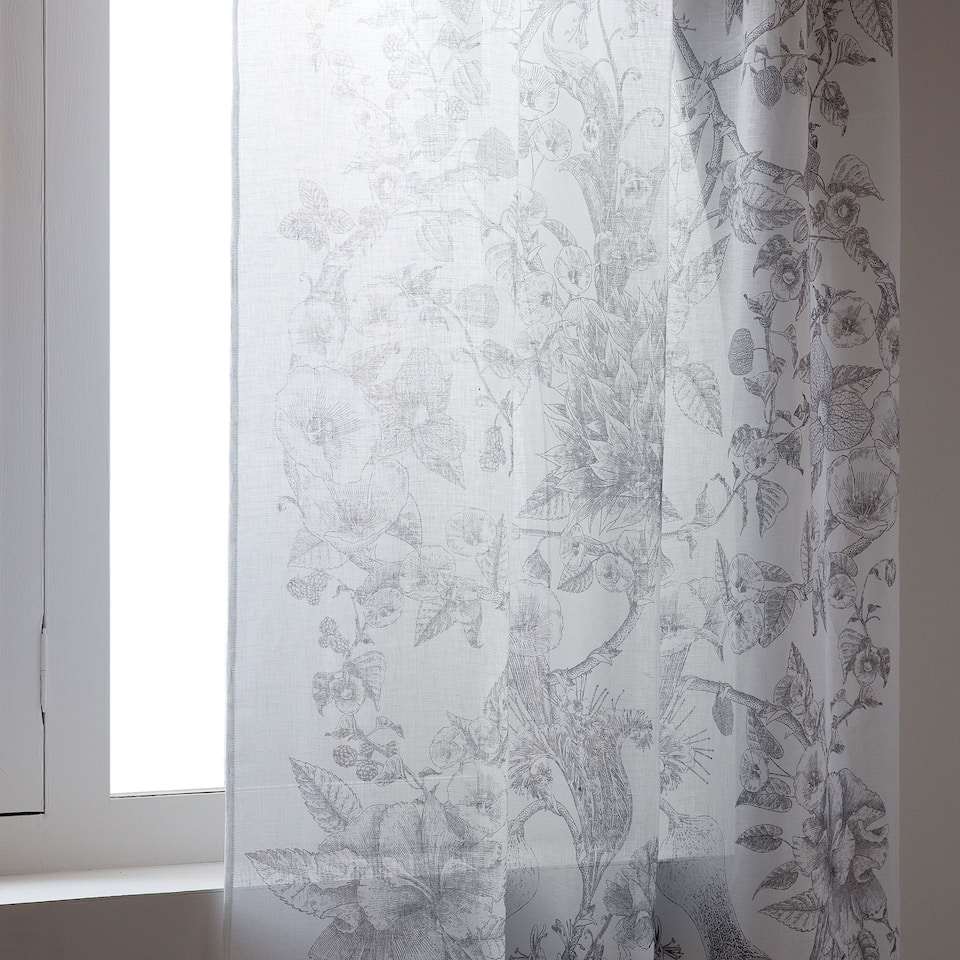 DIGITAL-PRINT LINEN CURTAIN