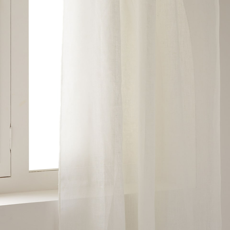 OFF-WHITE LINEN CURTAIN