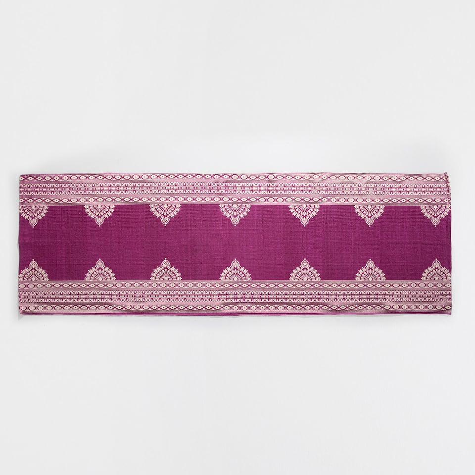 PINK PRINTED COTTON RUG