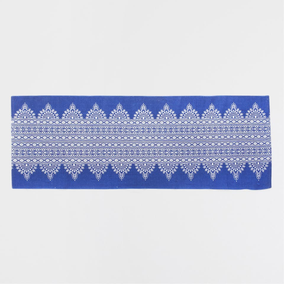 PRINTED BLUE COTTON RUG