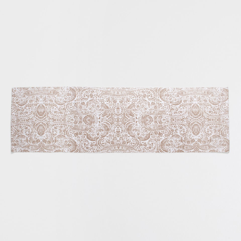 DAMASK-PRINT COTTON RUG