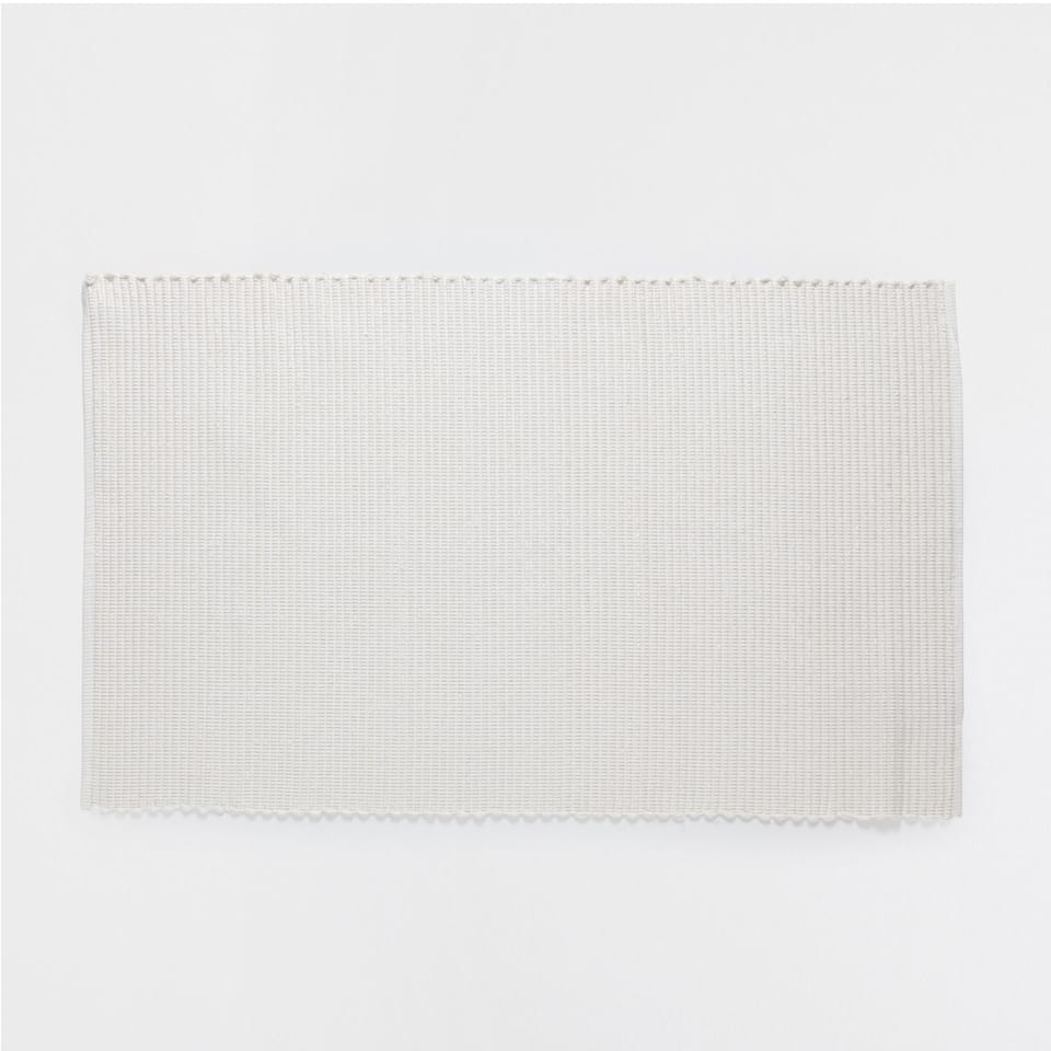 SHIMMER-THREAD COTTON RUG