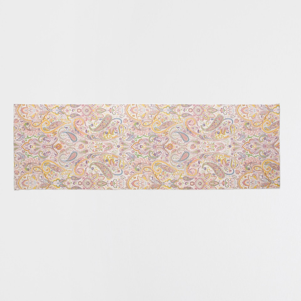 MULTICOLOURED PAISLEY COTTON RUG