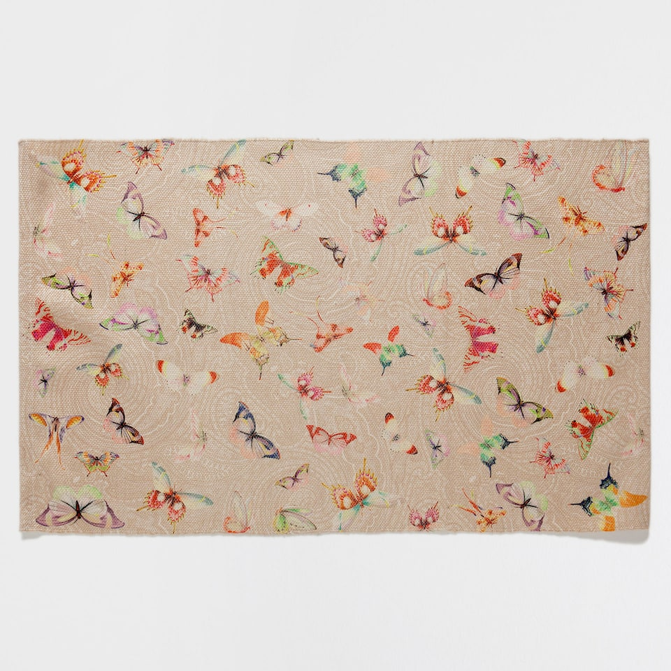BUTTERFLY DIGITAL-PRINT RUG