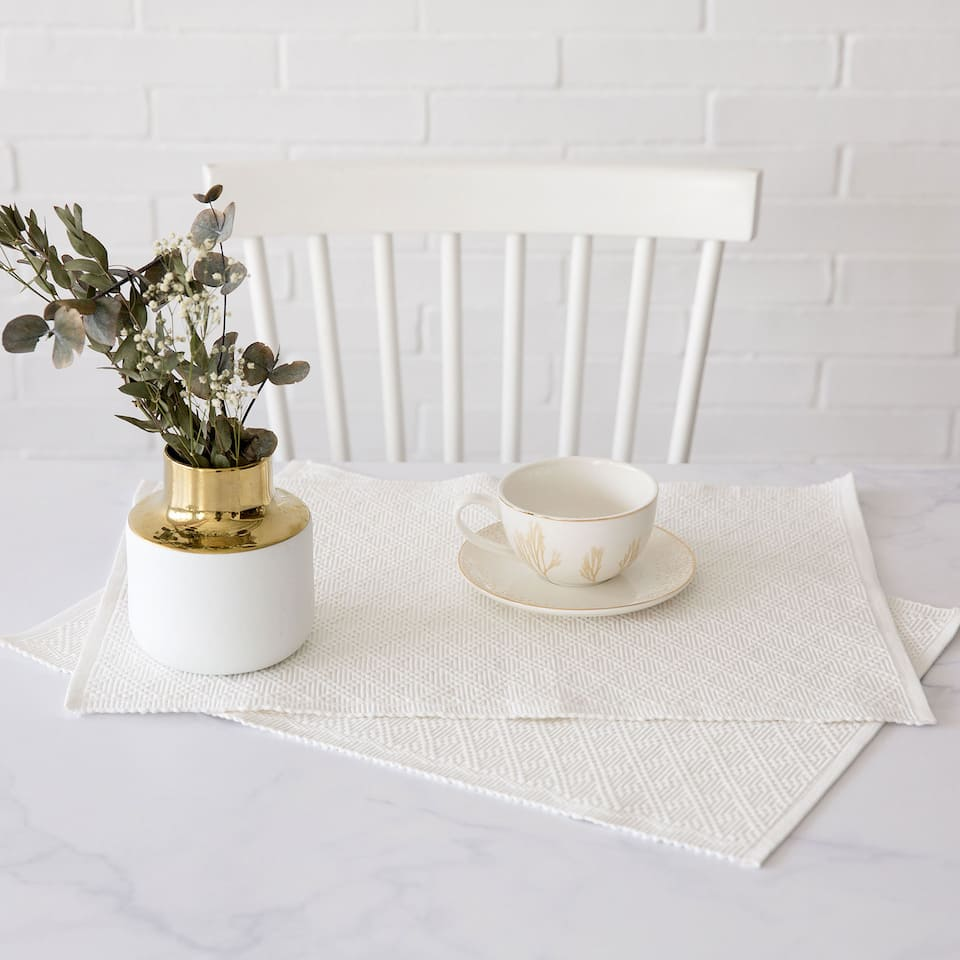 White Cotton Placemat (Set of 2)