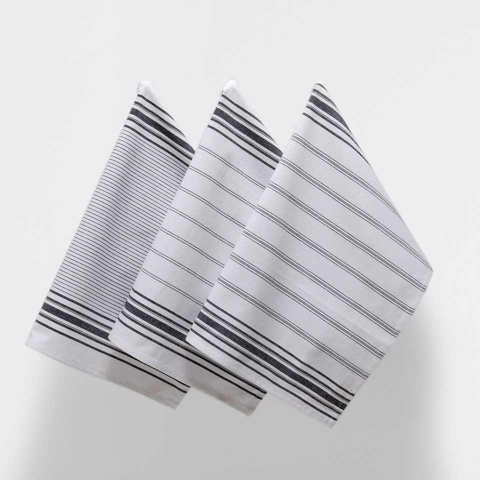 BLACK-LINES TEA TOWEL (SET OF 3)