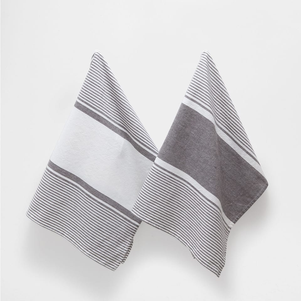 STRIPS TEA TOWEL (SET OF 2)