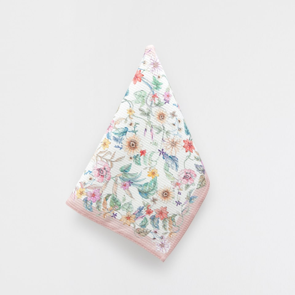 FLORAL COTTON TEA TOWEL