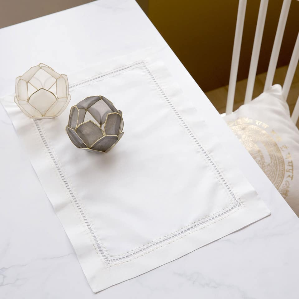 Hemstitched Ramie Placemats