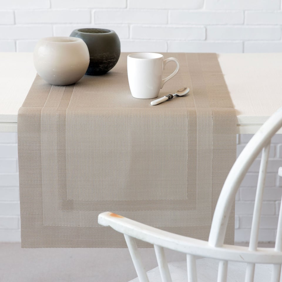 Plastic-Coated Framed Table Runner
