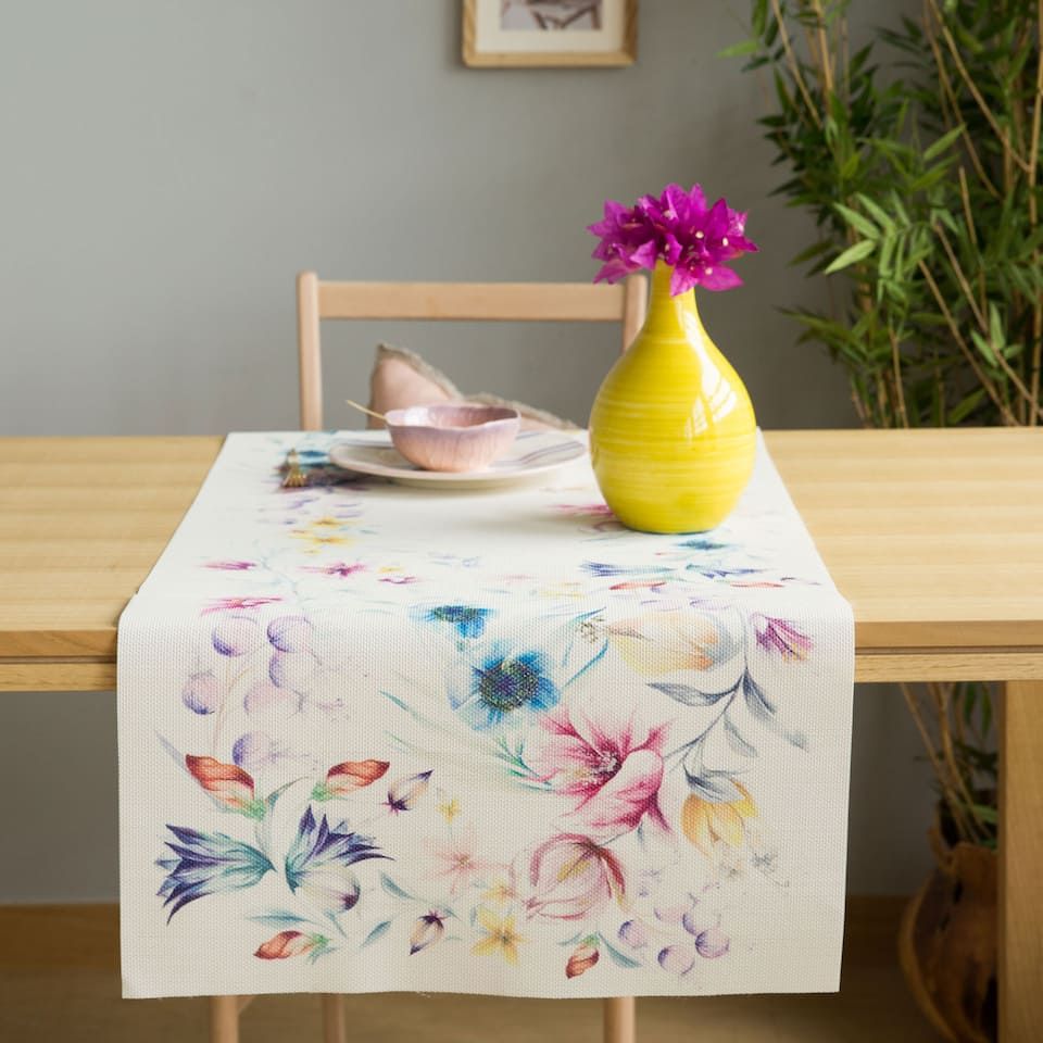 Printed Plastic Table Runner