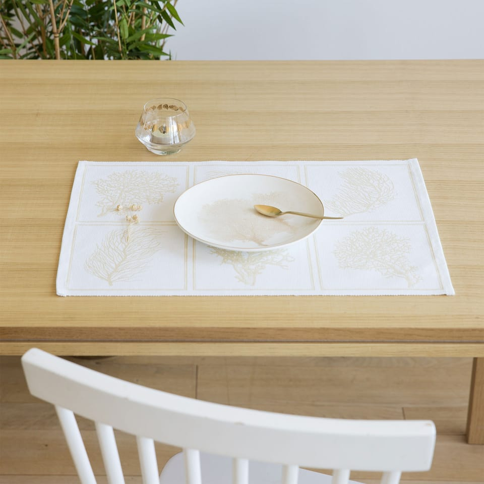 Coral-Print Placemat (Set of 2)