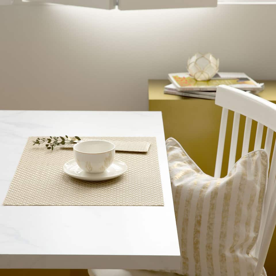 Golden Plastic-Coated Placemat (Set of 2)