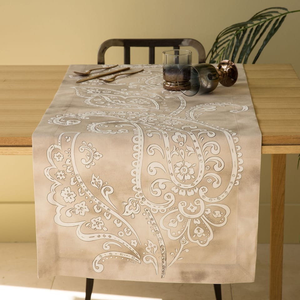 Paisley-Print Table Runner