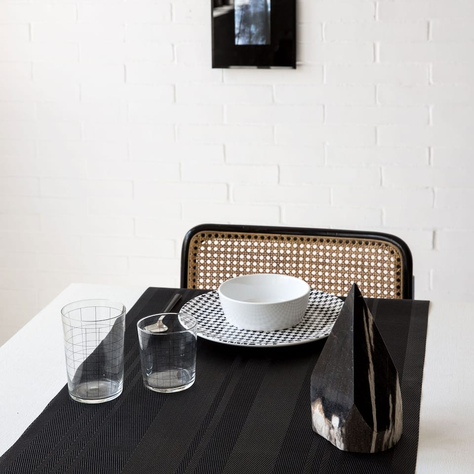 Black Plastic Table Runner