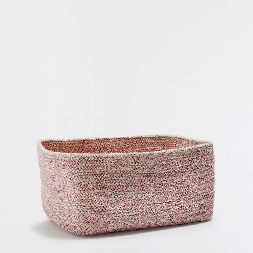 ZIGZAG RECTANGULAR BASKET
