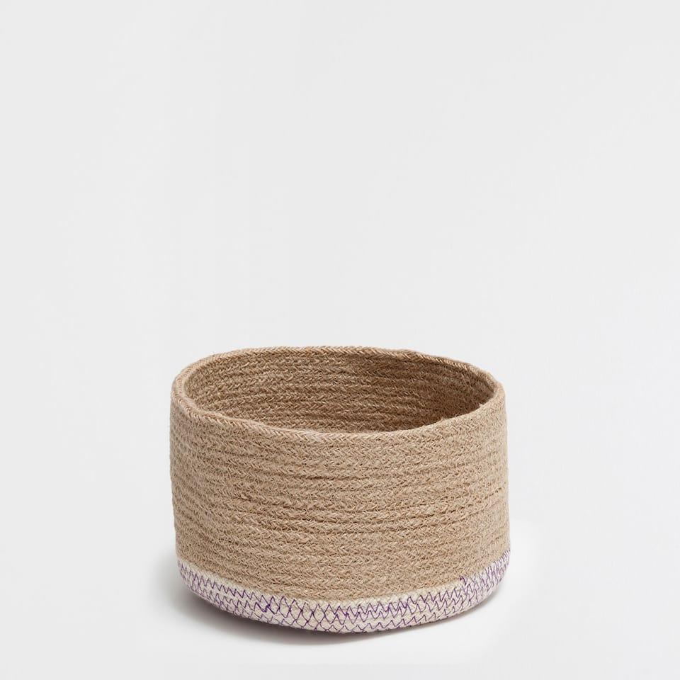 ZIGZAG LOW ROUND BASKET