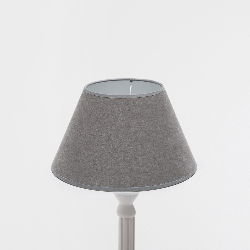 GREY LINEN CONE-SHAPED LAMPSHADE