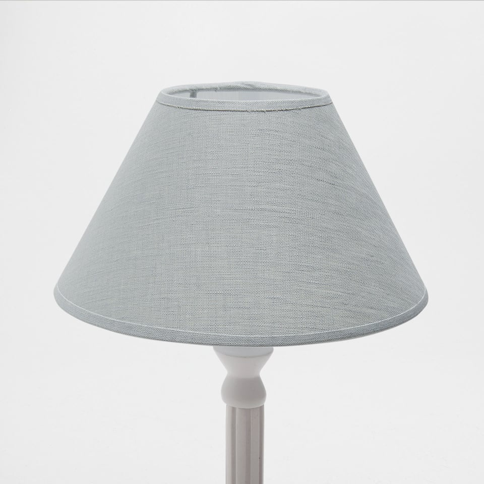 GREEN LINEN CONE-SHAPED LAMPSHADE