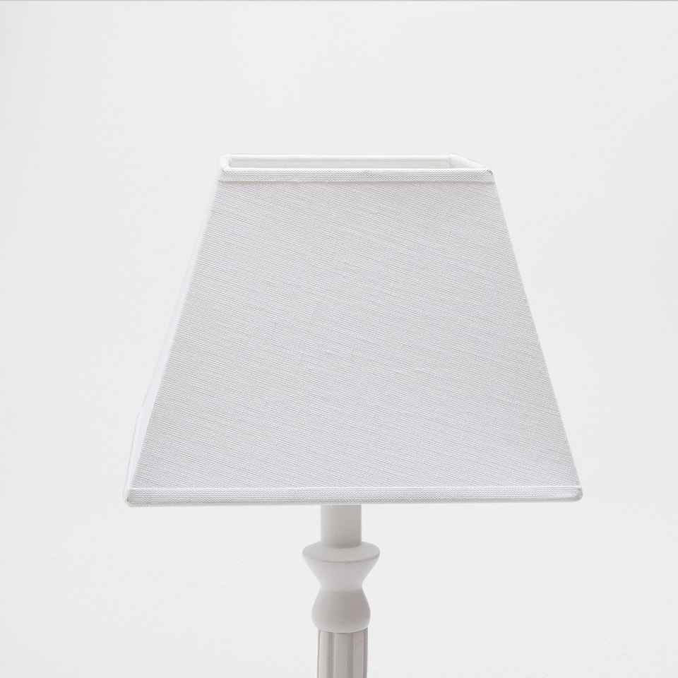 WHITE LINEN SQUARE-SHAPED LAMPSHADE
