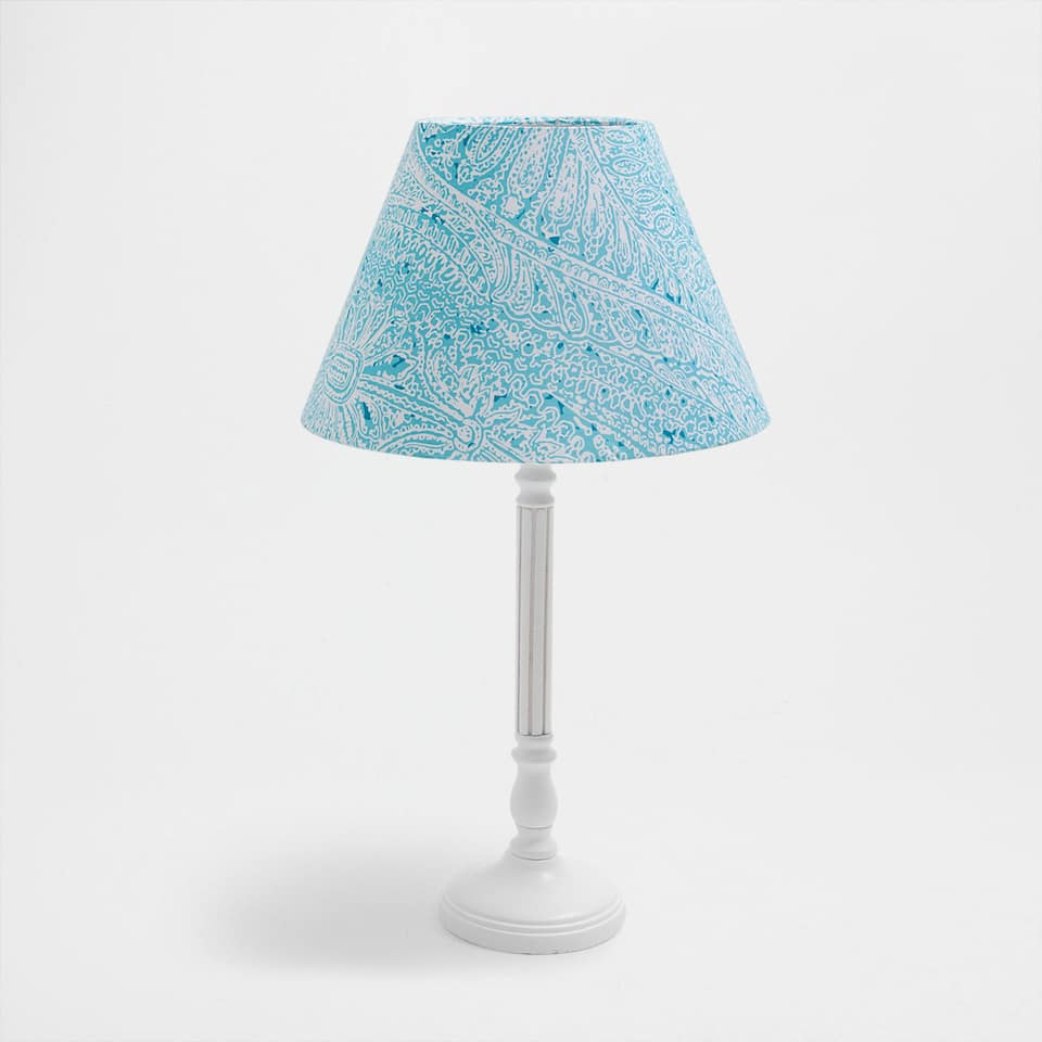 PRINTED-SHADE LAMP