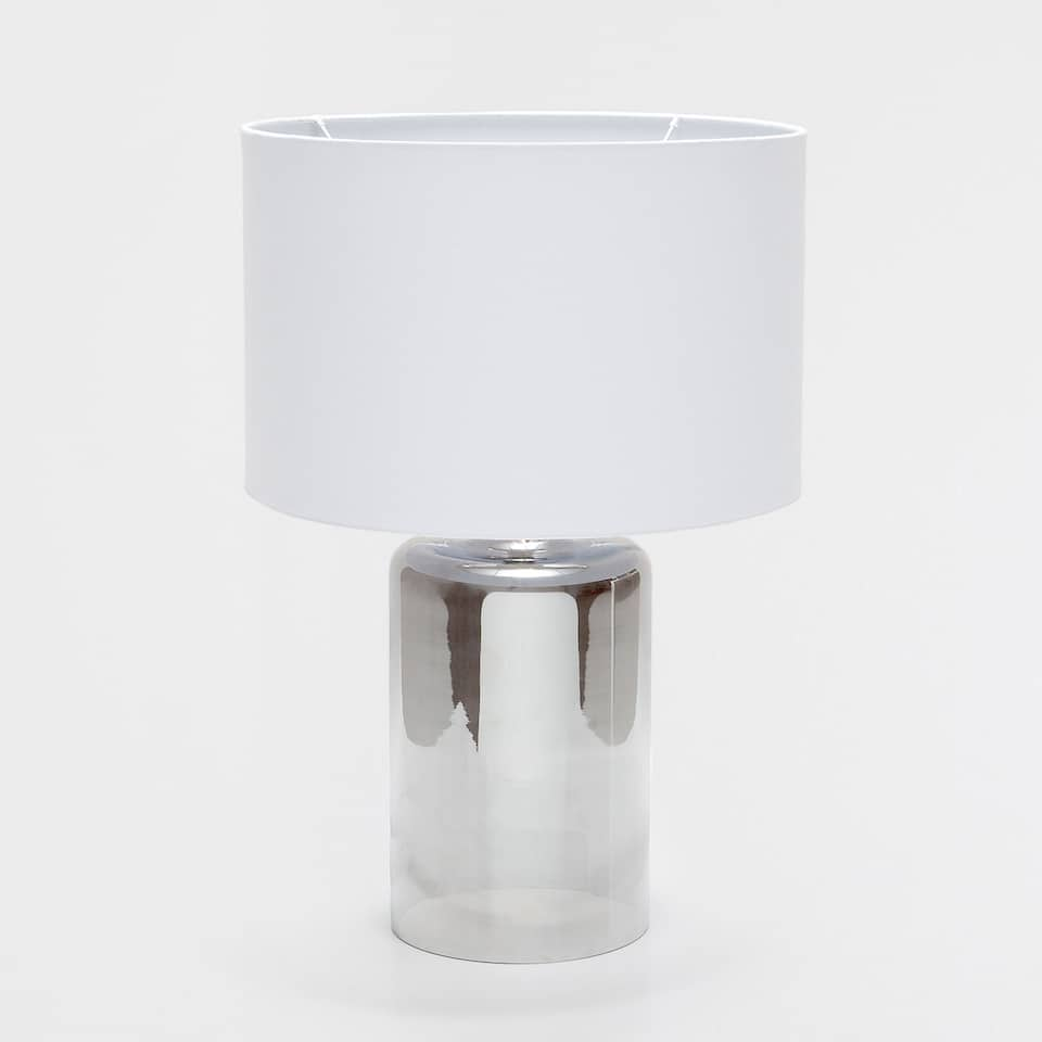 GALVANISED GLASS LAMP