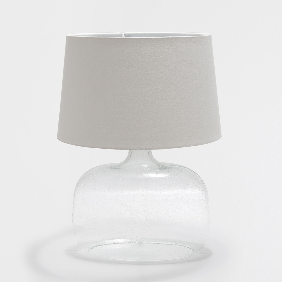 OVAL GLASS LAMP