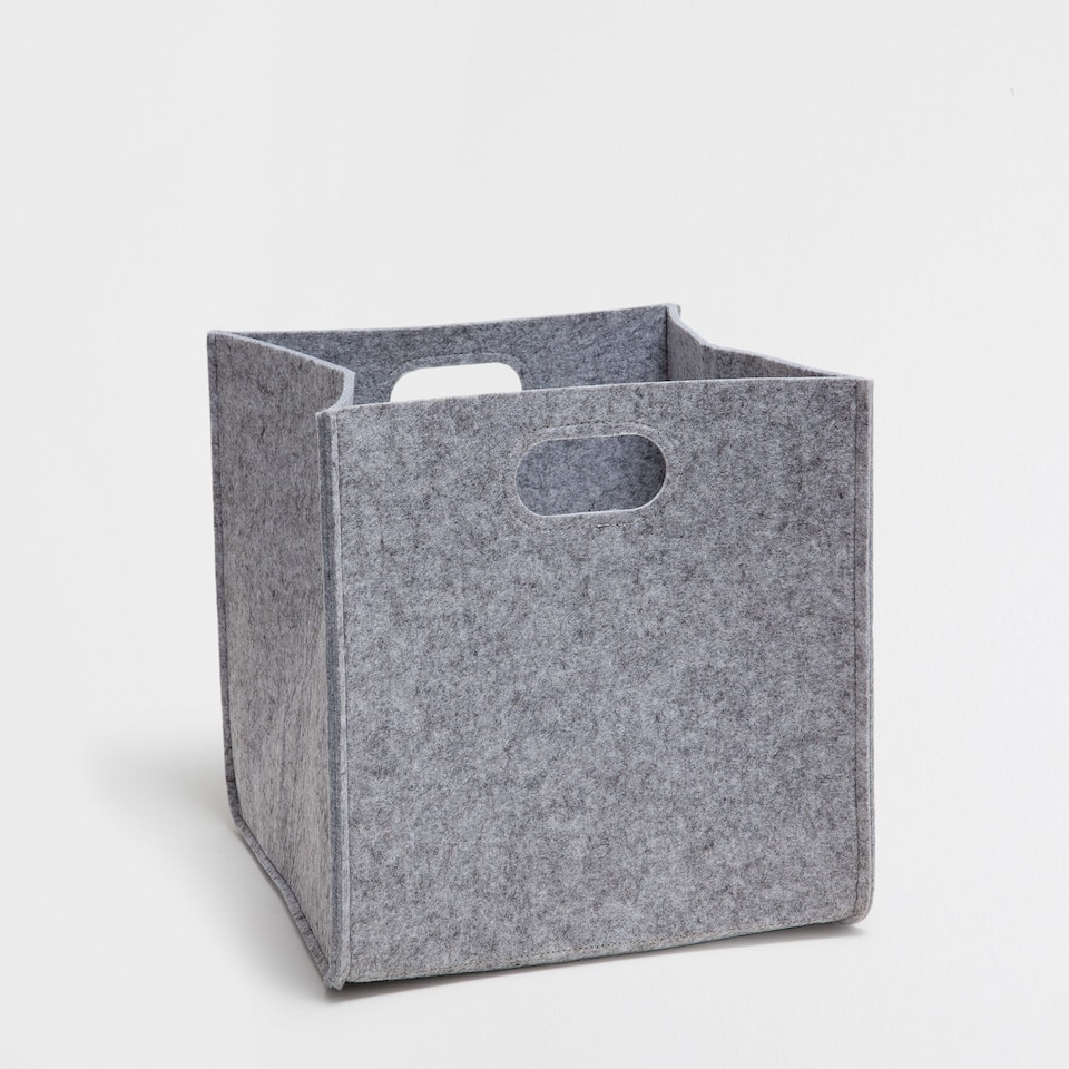 GREY SQUARE BASKET