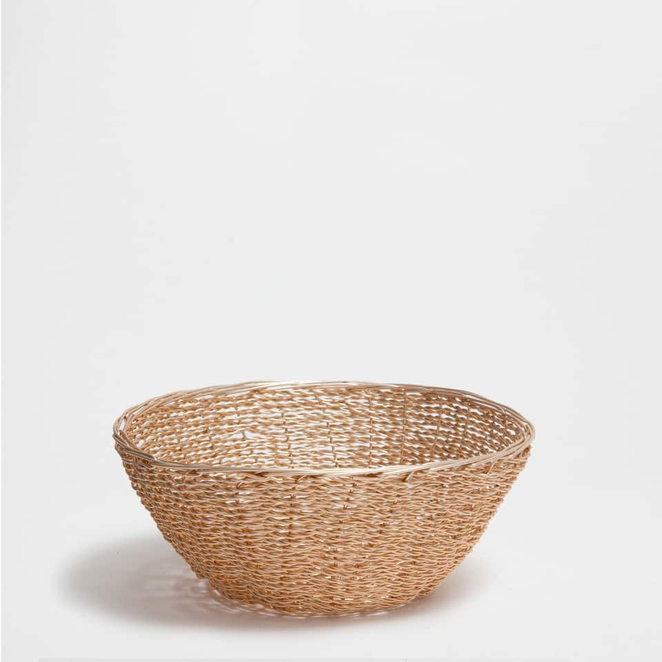 GOLDEN ALUMINIUM SMALL BASKET