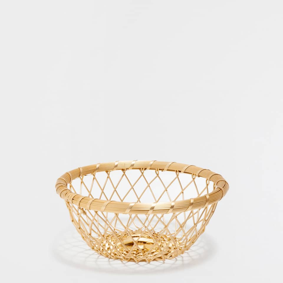 GOLDEN ALUMINIUM ROUND BASKET
