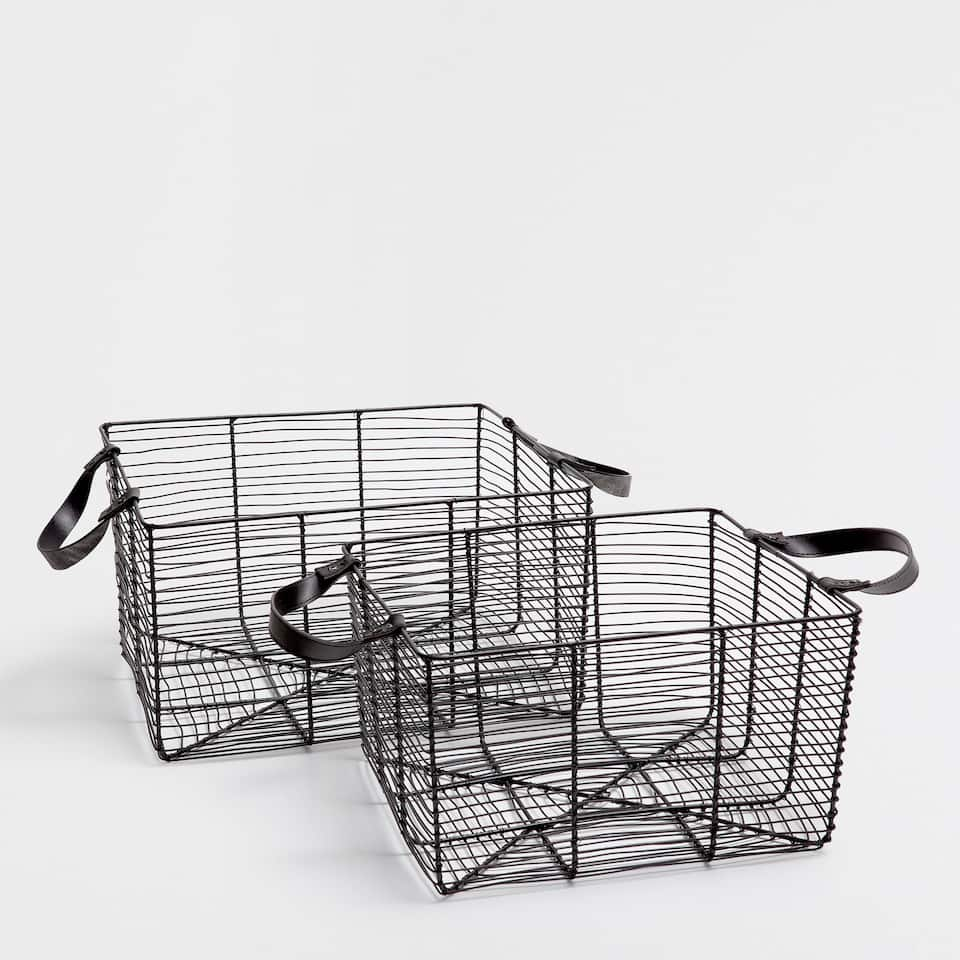MESH SQUARE LOW BASKET
