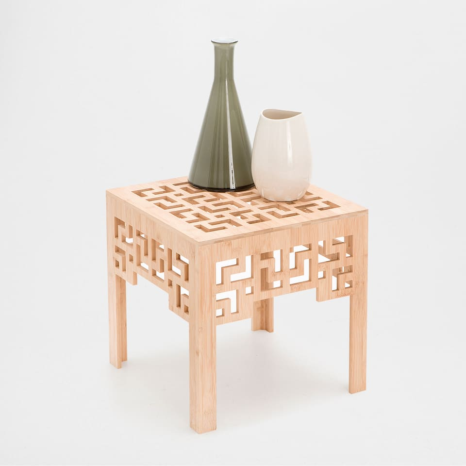 GEOMETRIC-DESIGN SQUARE TABLE
