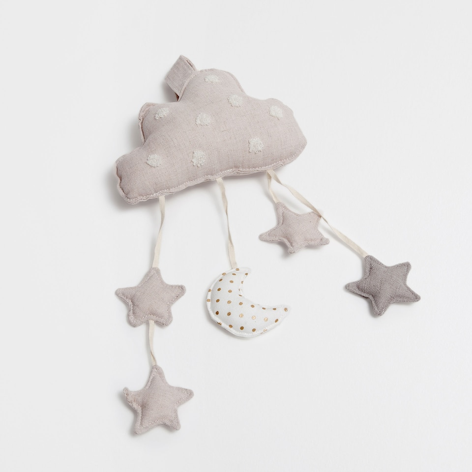 HANGING STARS RATTLE SOFT TOY
