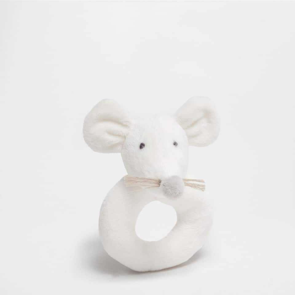 MOUSE RATTLE SOFT TOY