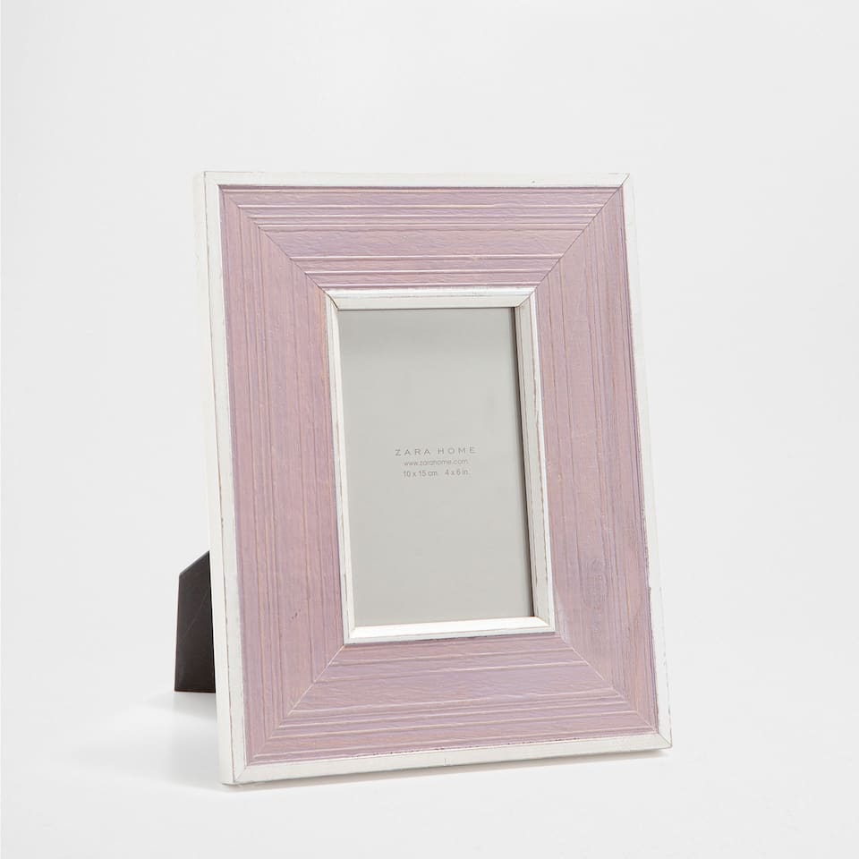 SILVER-EDGED WOODEN FRAME