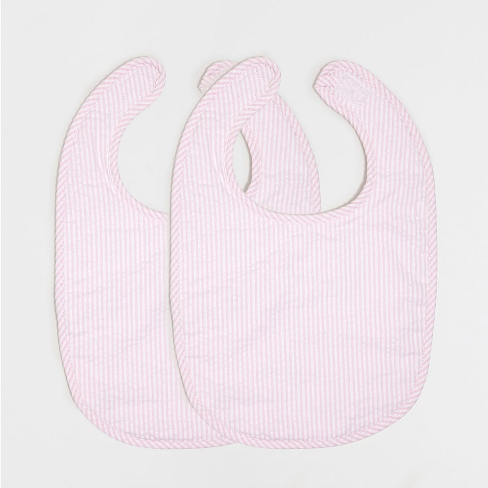 PERCALE SEERSUCKER BIB (SET OF 2)