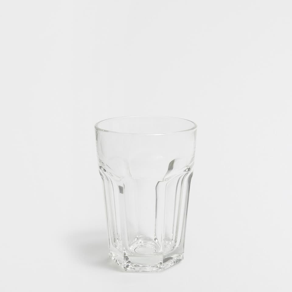 Glass soft drink glass
