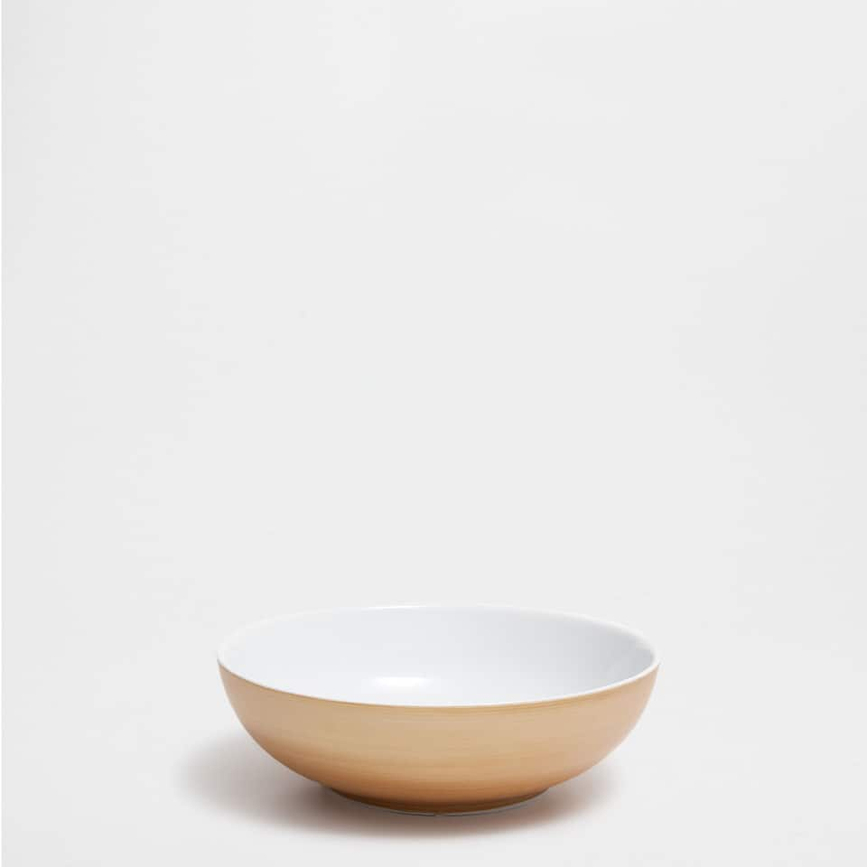 Bol porcelaine bord doré
