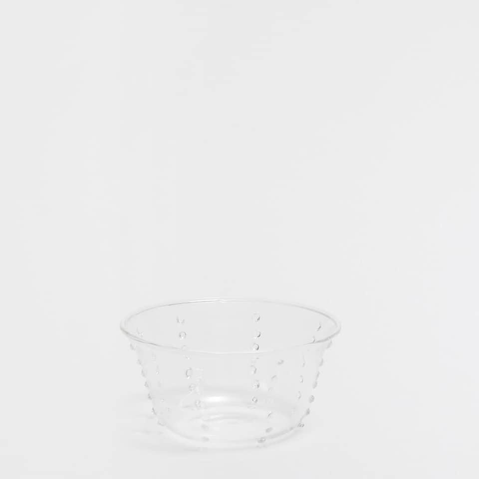Mini transparent borosilicate bowl