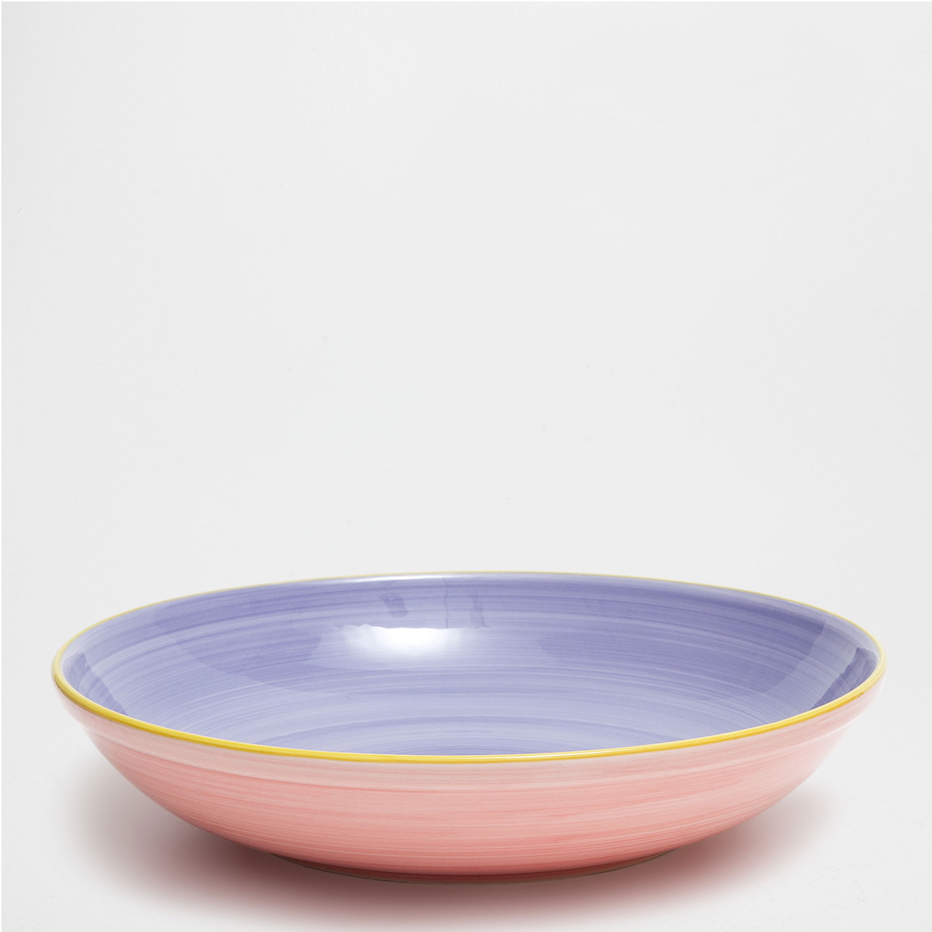 Multicoloured earthenware salad bowl