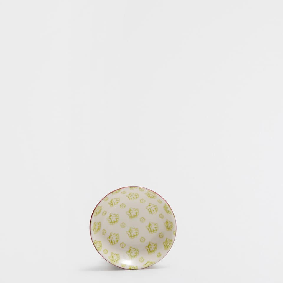 Oriental-motif porcelain mini bowl